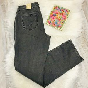 NEW Chico's Additions Gray Slim Leg Jeans Size 1.5